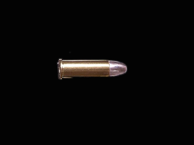 A bullet finally reached the man it was meant for