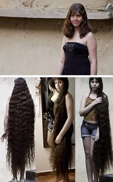 Brazilian teen sold her super long hair and bought a house with the money