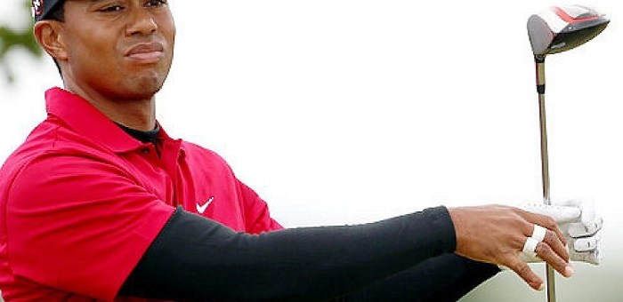 Lindsey Vonn encountered the bashing game by Tiger Woods at British Open.