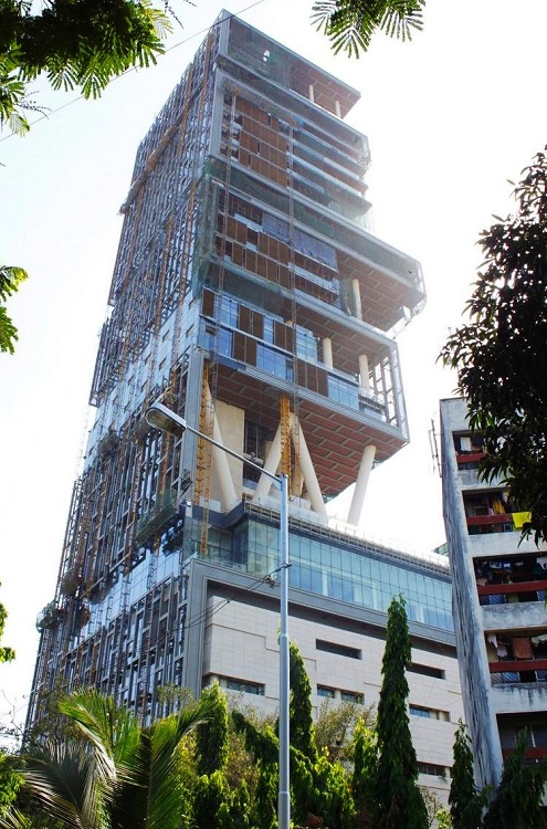 Antilia in Mumbai was the first home worth a billion Dollar