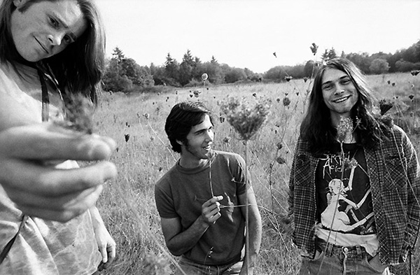 The very first photo of the three guys who were later known as Nirvana