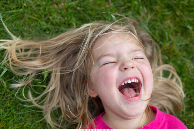 Child laughs more than an adul