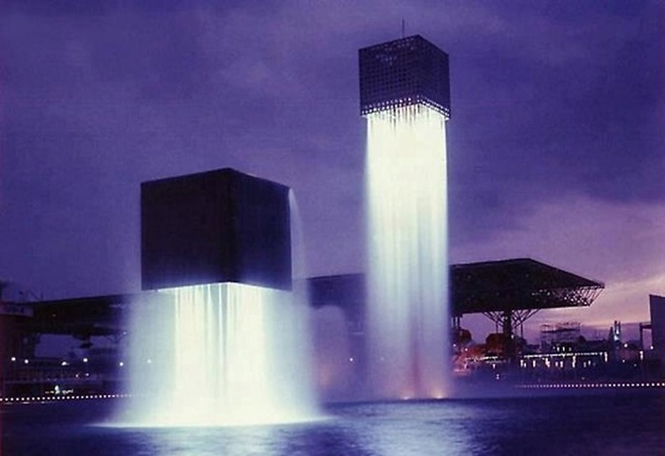 The Floating Fountains in Osaka, Japan
