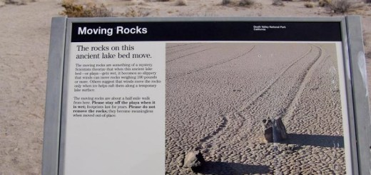 Mysterious sailing stones of Death Valley that travel on their own