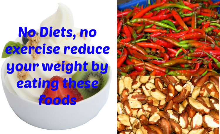 No Diets, no exercise reduce your weight by eating these foods