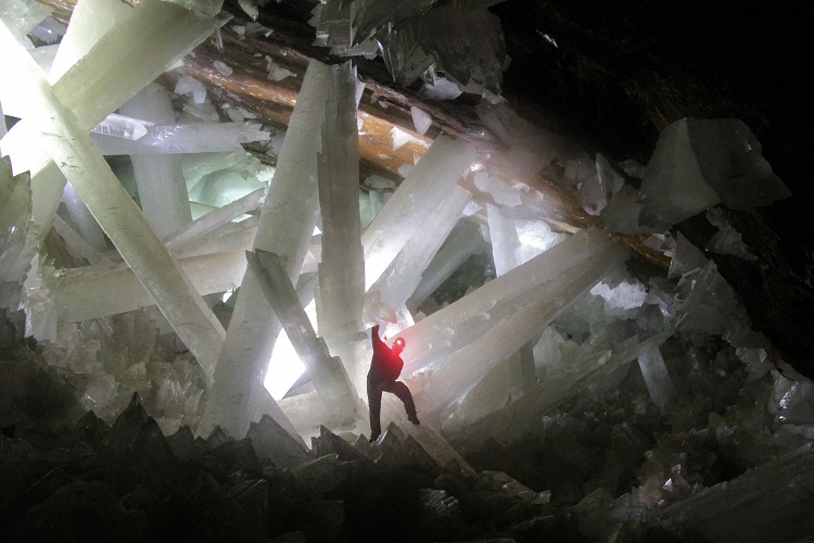 Cave of Crystals, located in Mexico