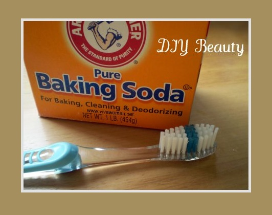 Brush with baking soda