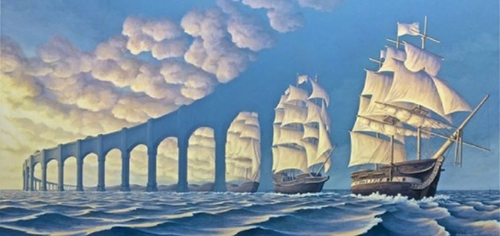 Paintings which create mind-blowing optical illusions
