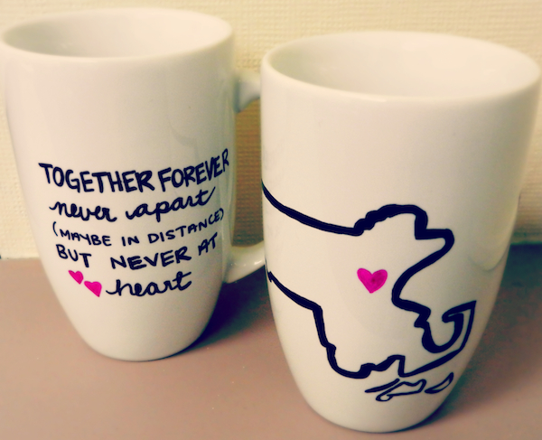 A set of mugs made for the two of you