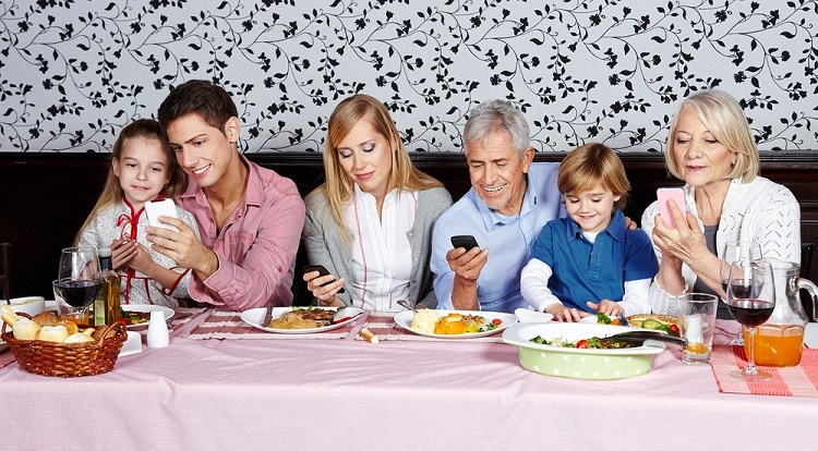Family time is saved for smartphones