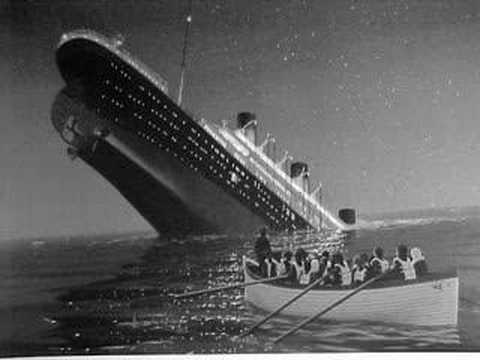 The last photo of the maiden voyage of Titanic, 1912