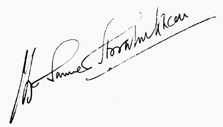 The Meaning of underlining a signature