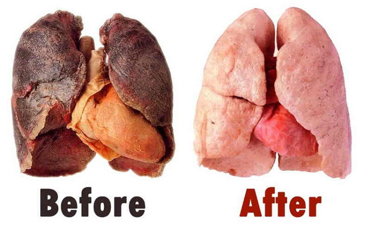 How should you clean your lungs?