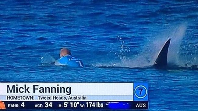 Mick Fanning facing shark attack