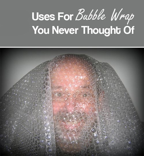 Alternative uses of bubble wrap