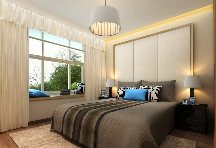 Ceiling and bedside lamps
