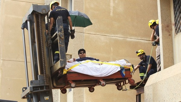 How he was transported to the hospital?