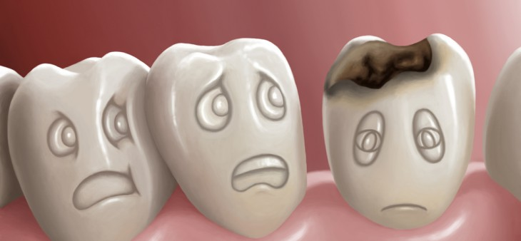 What happens with the bacteria inside the mouth?