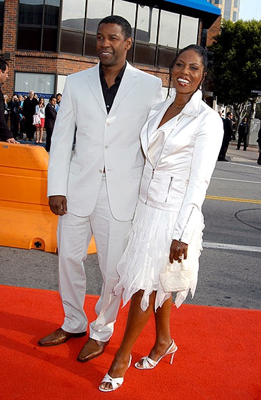 Denzel Washington and Pauletta Pearson (married in 1983)