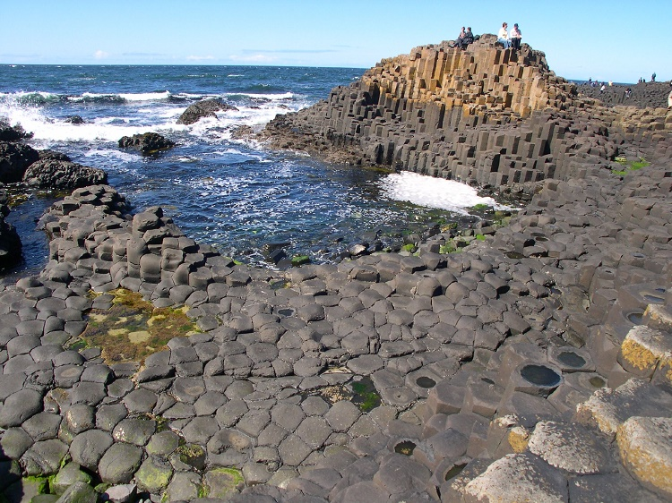 The Giant Causeway. Basalt Columns, Northern Ireland