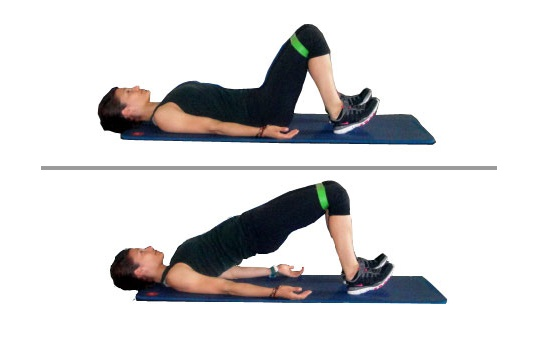 The Glute bridge exercise