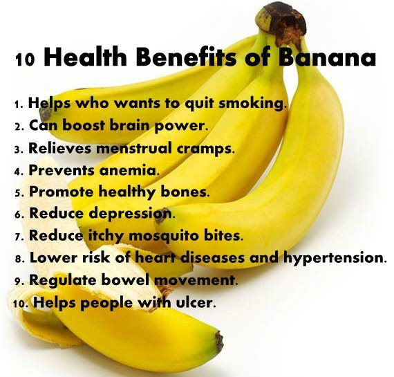 What are the health benefits of banana?