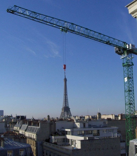 Looks Like They Are Shifting the Eiffel Tower to New York