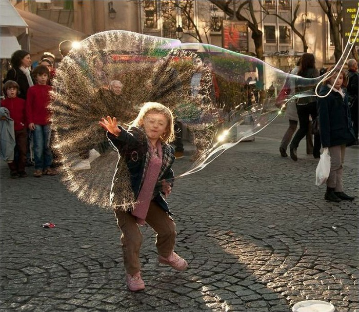 Whoa! She Burst a Bubble
