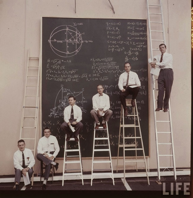 NASA scientists working on an equation