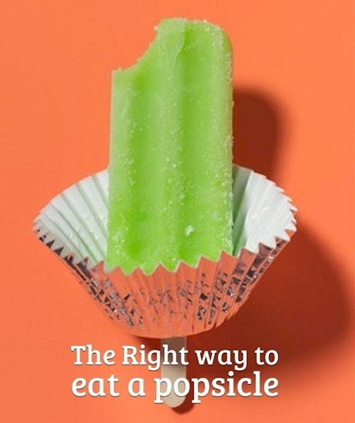 Popsicle eating made easy