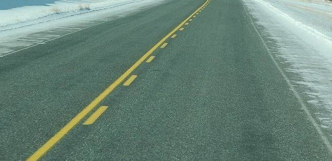Solid Yellow Lines with Broken yellow line