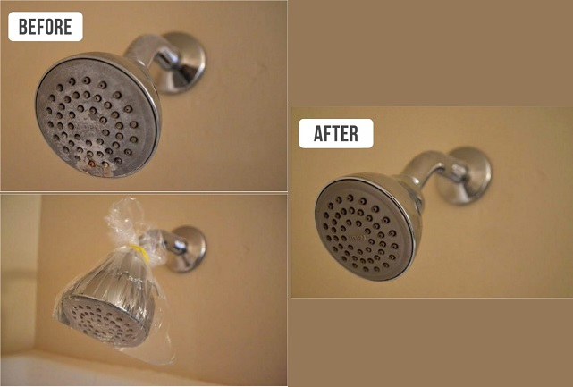 Cleaning Taps and Shower Heads