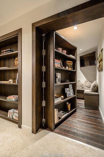 convert your door into a bookshelf