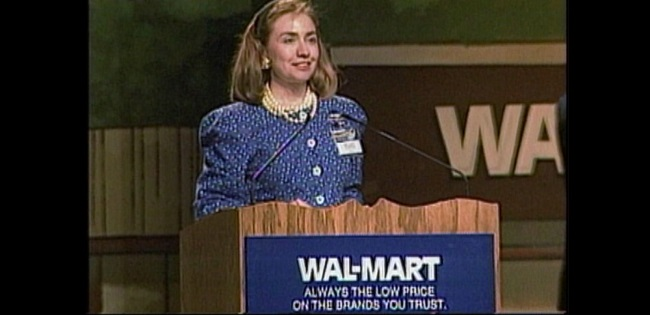 Hillary Clinton served as a board member on Wal–Mart