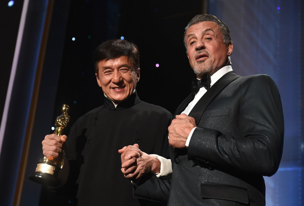 Jackie chan with sylvester stallone