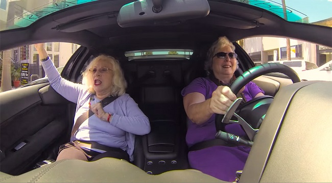 Lambo Grannies have a rocking time