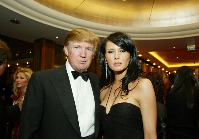 Melina met Donald when he was dating someone else