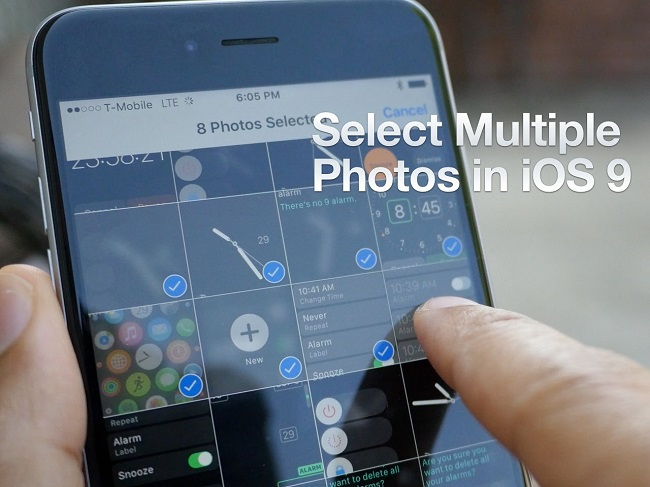 Select multiple photos with finger touch