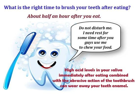 Brushing immediately after eating certain foods