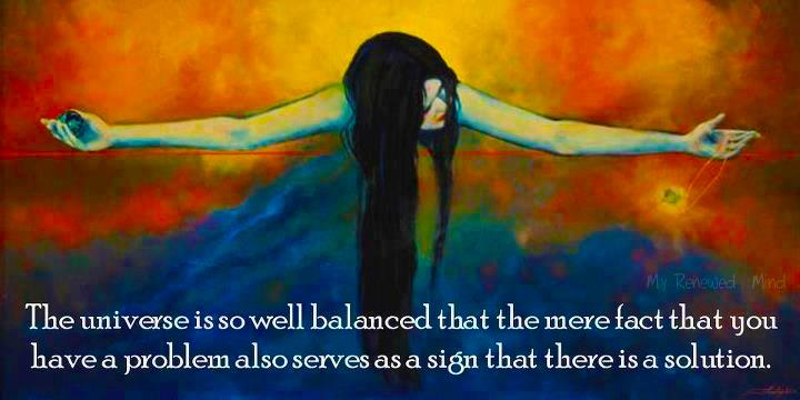 The universe needs to be in perfect balance