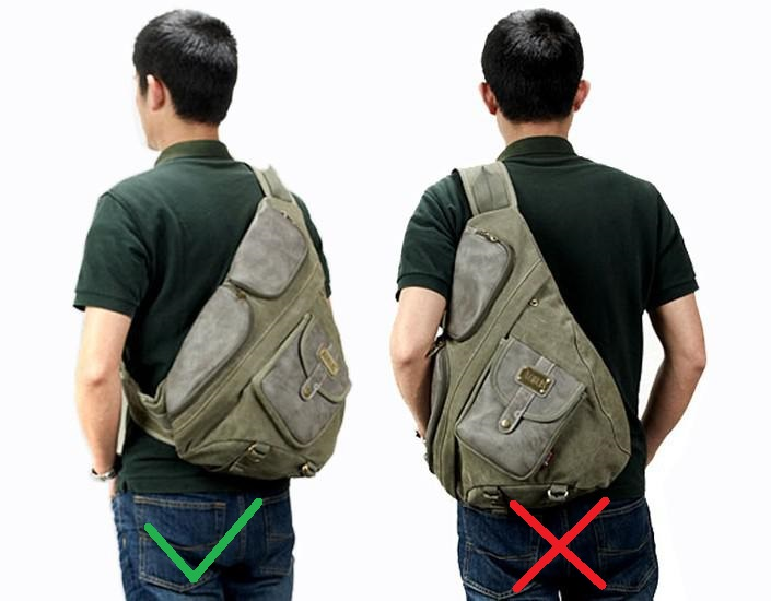 Carrying a backpack