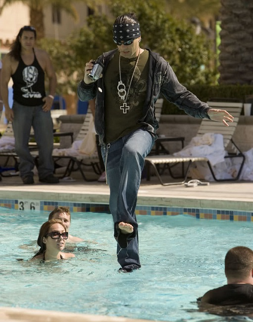 Criss can walk on water!