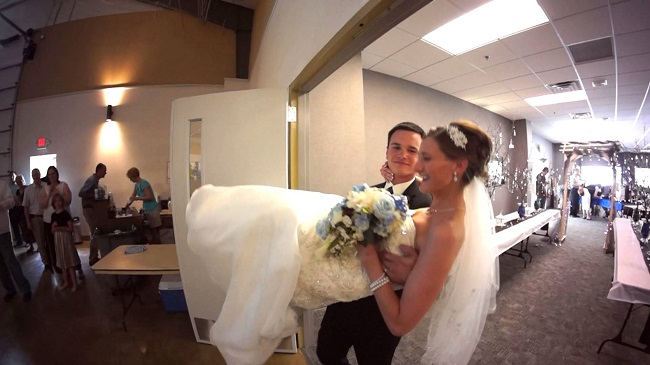 Carrying the bride over the threshold