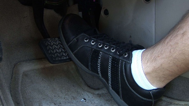 Keeping your foot on the brake