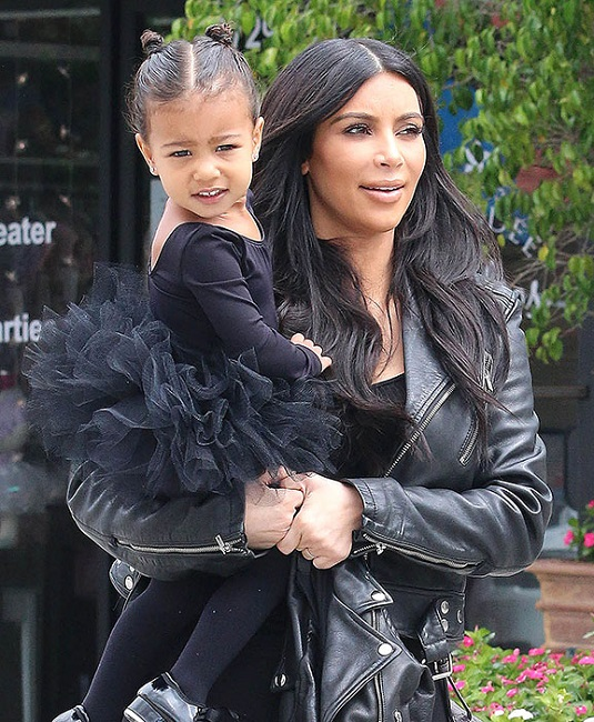 Kim Kardashian with baby