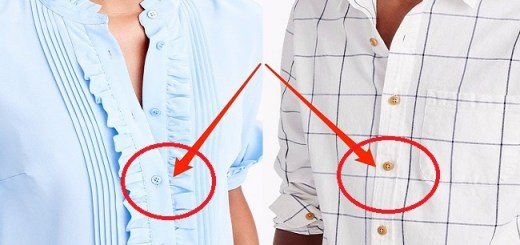 The Reasons why the Buttons of Men and Women's Shirts are Sewn on Either Side