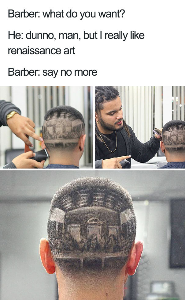 funny hairstyle