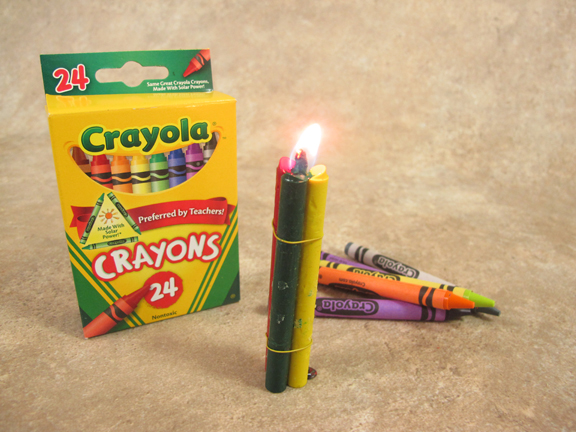 Crayons as candles