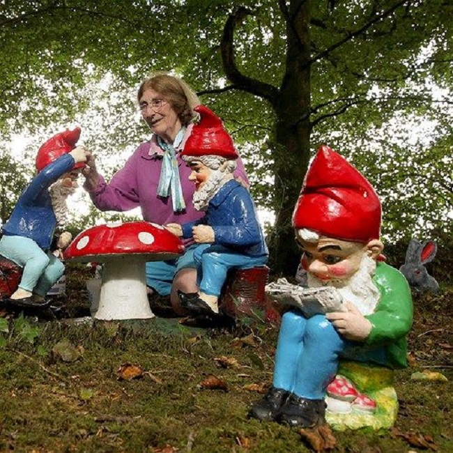 Largest collection of garden gnomes