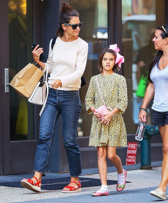 Katie and Suri in New York